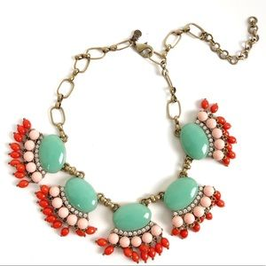 J. Crew Vibrant Chandelier Gold Statement Necklace